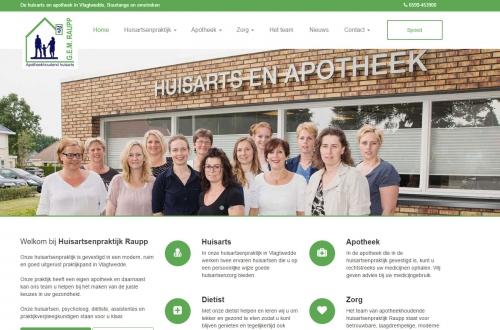 Webdesign voor huisartsenpraktijk raupp