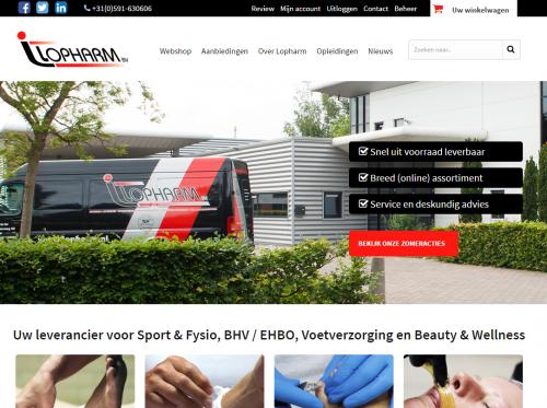 Nieuwe webshop laten maken voor Lopharm